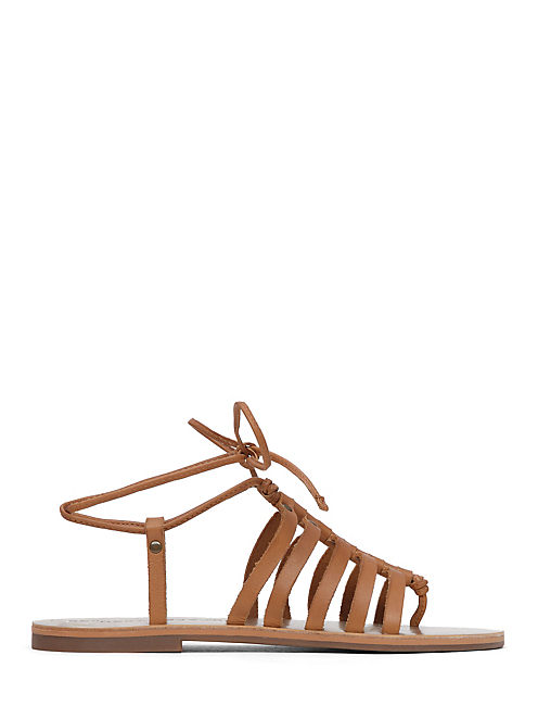 COLETTE SANDAL, LIGHT BROWN