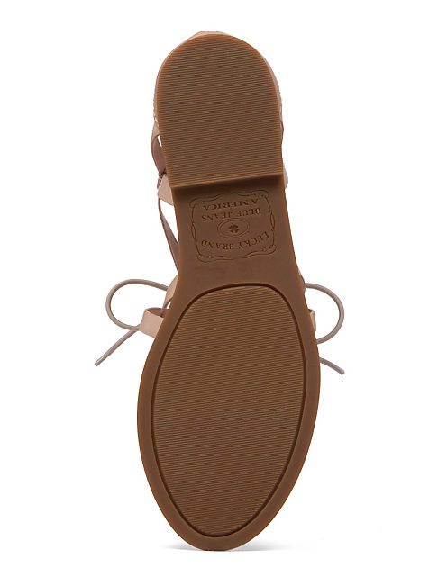 DAWNA FLAT SANDAL, OPEN BROWN/RUST