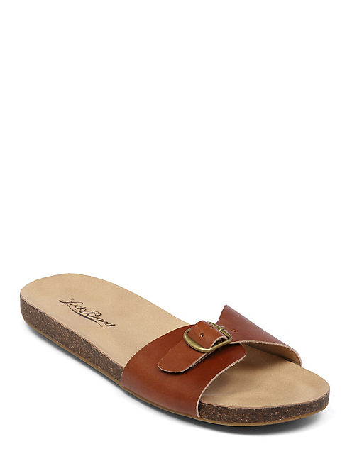 DOLLIEE FLAT SLIDE, DARK RED