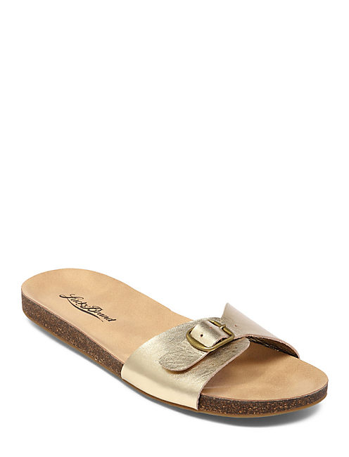 DOLLIEE FLAT SLIDE, MEDIUM DARK YELLOW