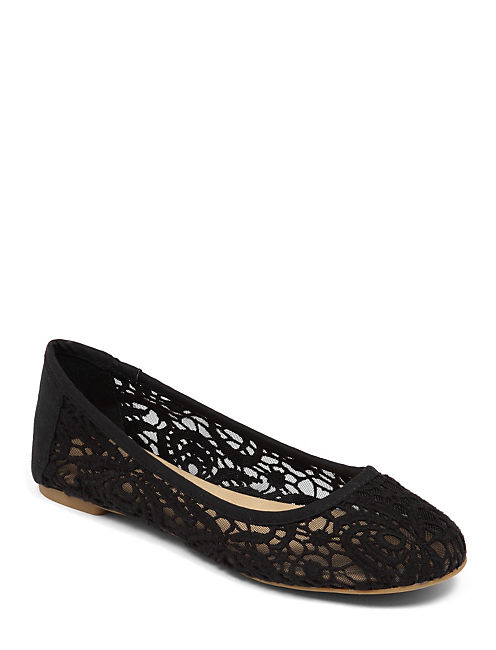 EARTHA LACE BALLET FLAT, BLACK