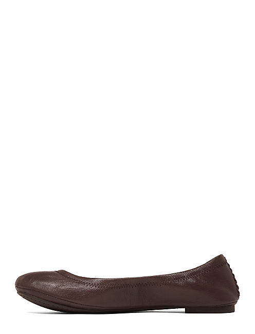 EMMIE FLATS, DARK BROWN