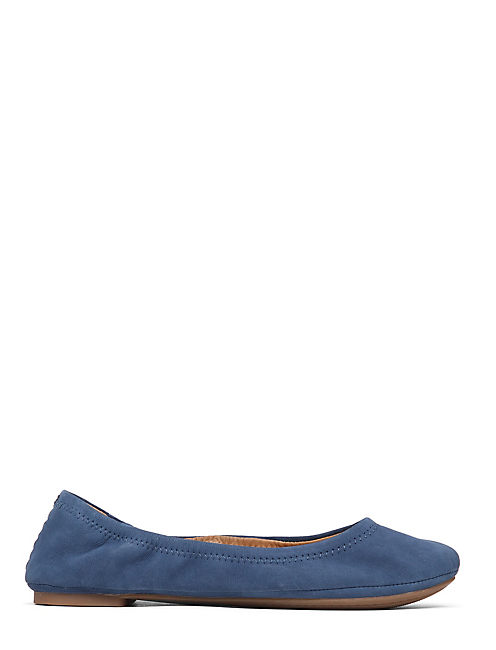EMMIE FLATS, DARK CHAMBRAY