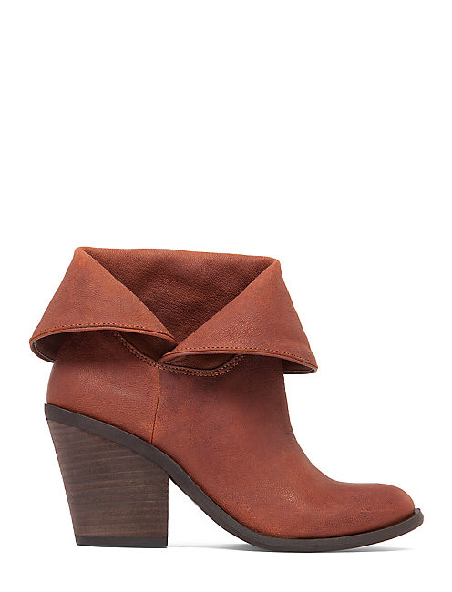 ETHANN FOLDOVER BOOTIE, TOFFEE