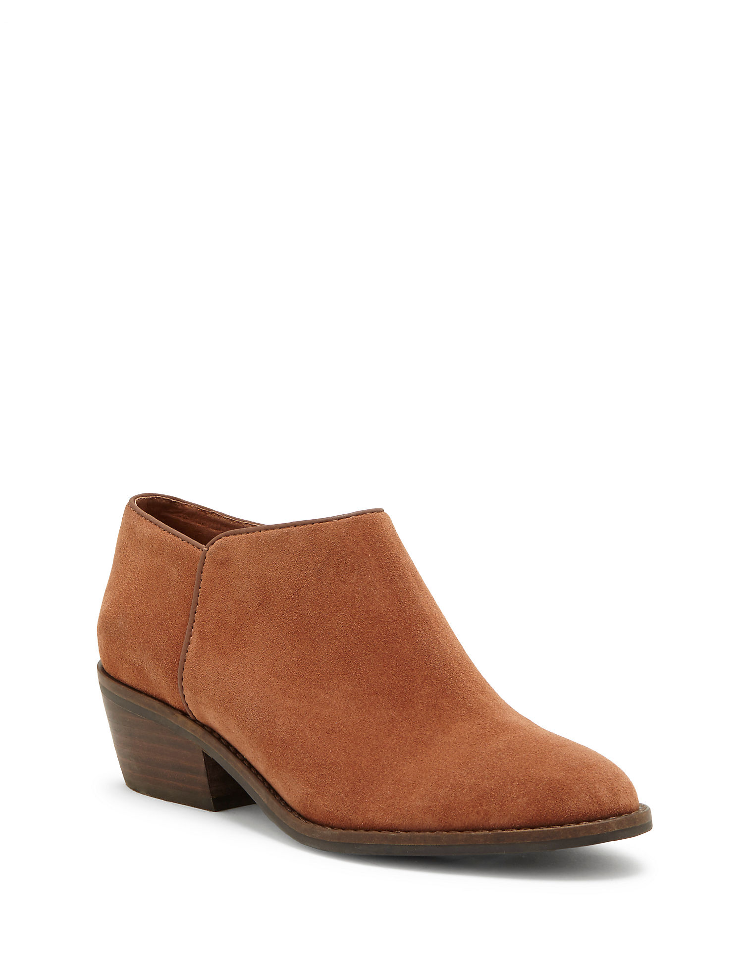 Lucky Brand faithly bootie brown chestnut leather suede women's boots