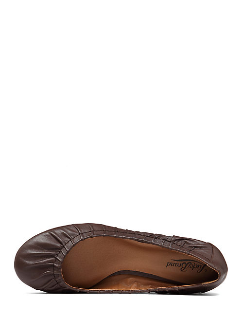 FIBII DEMI WEDGE SHOE, TOBACCO LEATHER