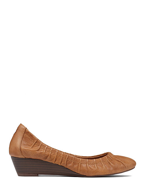 FIBII DEMI WEDGE SHOE, BOMBAY LEATHER
