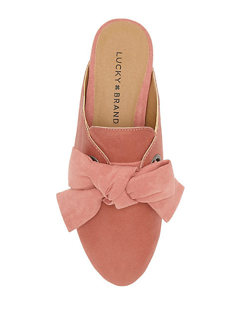 FLOREAN BOW SLIDE, CORAL PINK