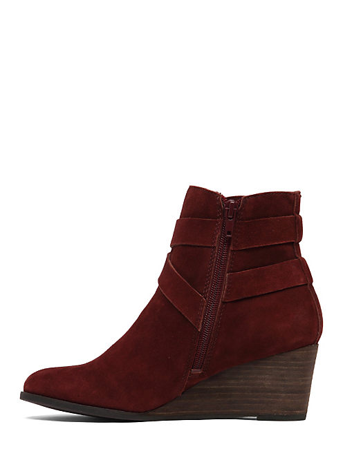 GINNIE WEDGE BOOTIE, OXBLOOD