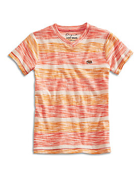 SLUB STRIPE V-NECK