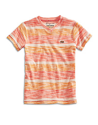 LUCKY SLUB STRIPE V-NECK