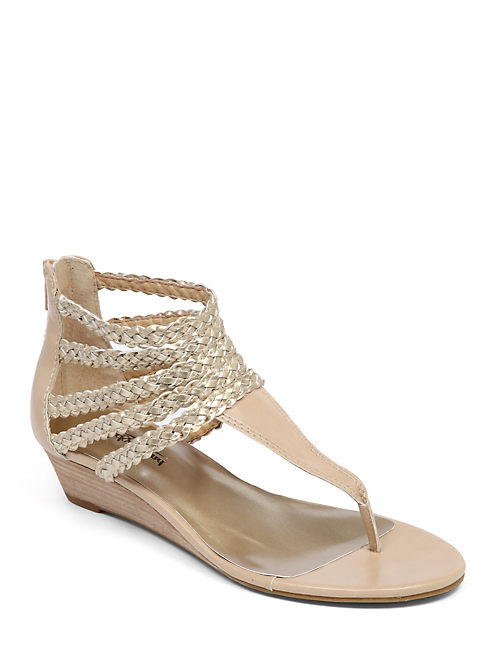 JENJI WEDGE SANDAL, MEDIUM LIGHT BEIGE