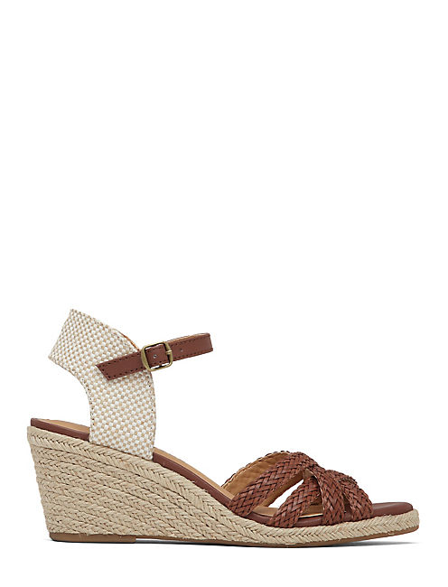 KALLEY WEDGE, ALMOND