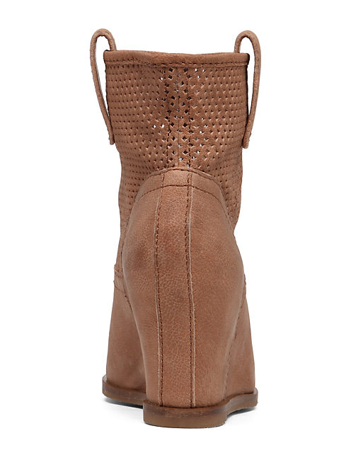 KENO WEDGE BOOTIE, WHEAT