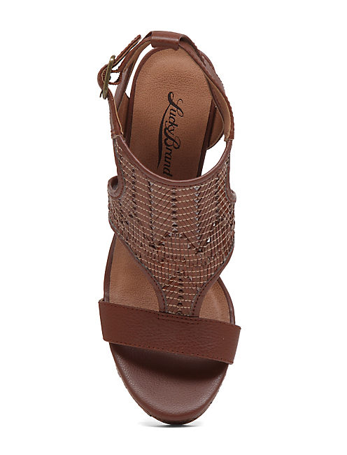 LAFFERTIE WEDGE, MEDIUM DARK BEIGE