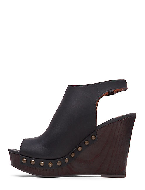 LARAE WEDGE, BLACK
