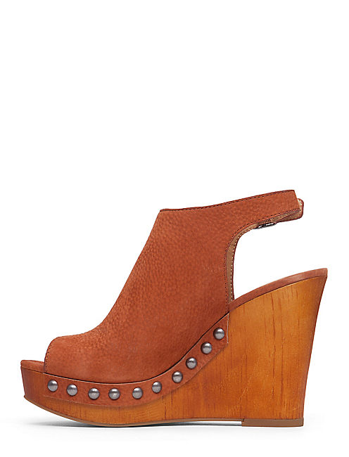 LARAE WEDGE, DARK ORANGE