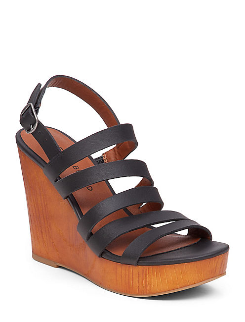 LARINAA WEDGE, BLACK