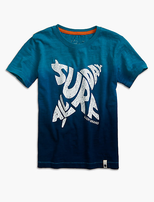 ALL DAY SURF TEE, OCEAN COLORBLOCK