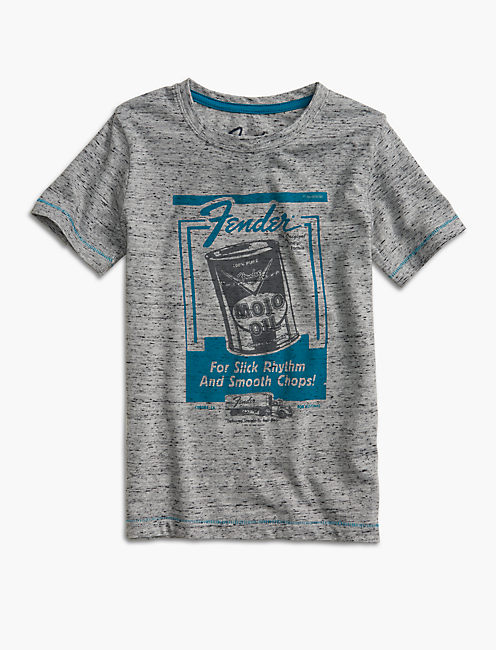 SLICK FENDER TEE, MEDIUM GREY