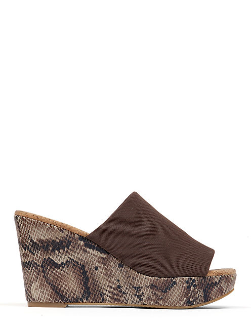 MARILYNN WEDGE, DARK BROWN