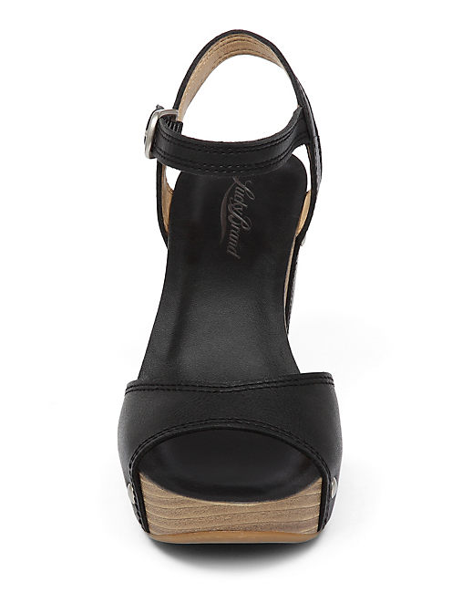 MARSHHA WEDGE, BLACK