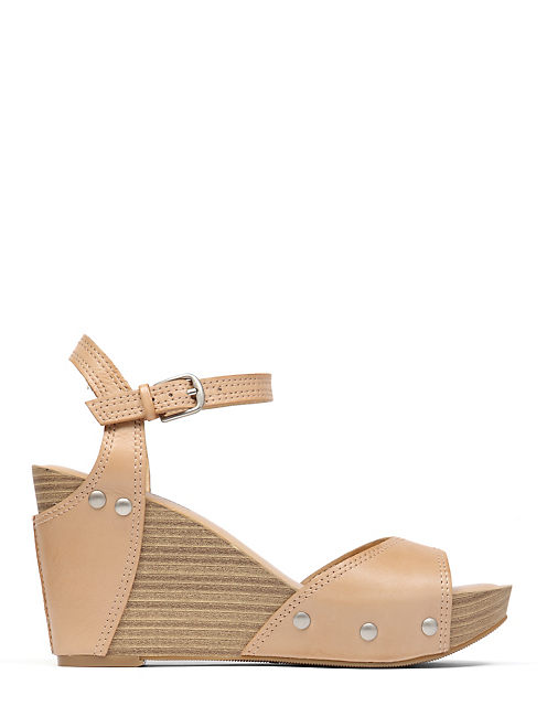 MARSHHA WEDGE, RUST BROWN