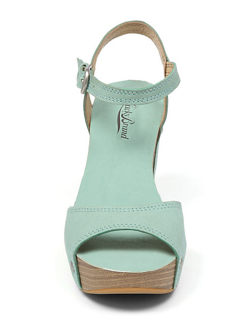 MARSHHA WEDGE, LIGHT GREEN