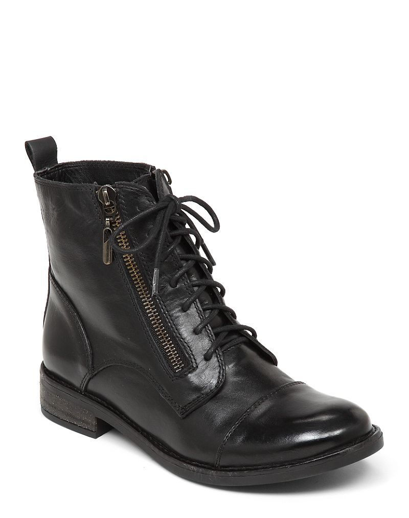Lucky Brand Nahdia Lace Up Bootie Womens $80.49 AT vintagedancer.com