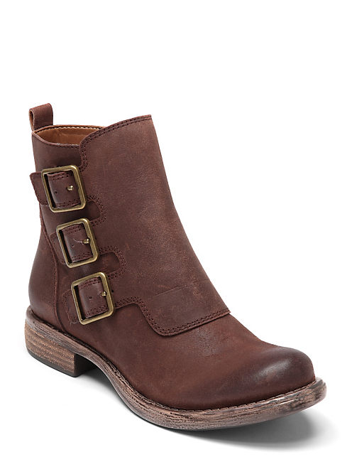 NALAH BOOTIES, OPEN BROWN/RUST