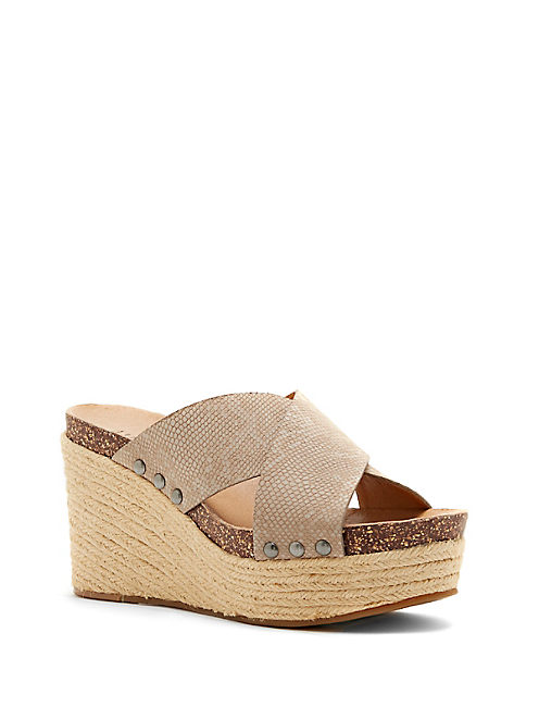 NEEKA WEDGE, OPEN GREY