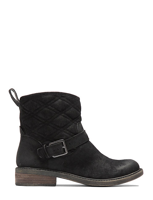 NORDIC QUILTED BOOTIES, BLACK