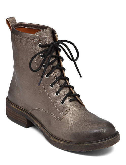 NOVEMBERE BOOT, OLD SILVER METALLIC LEATHER