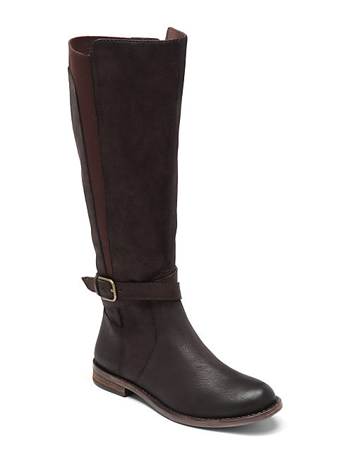 OSTRAND WIDE SHAFT BOOTS, DARK BROWN