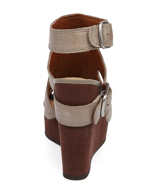 RAAA WEDGE, OPEN BROWN/RUST