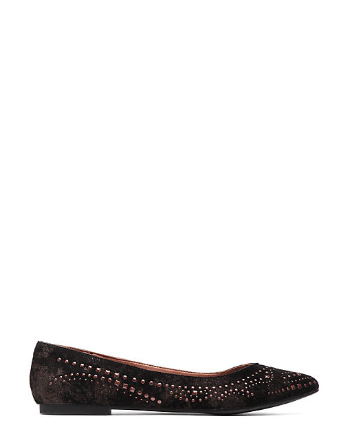 REGAN METALLIC STUD FLAT, BLACK