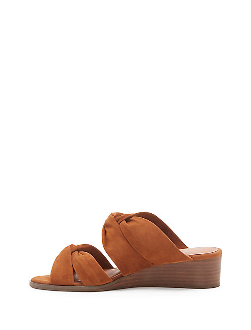 RHILLEY SUEDE SANDAL, OPEN BROWN/RUST