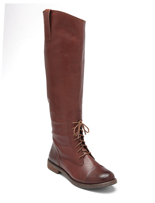 RIA LACE UP BOOTS, OPEN BROWN/RUST