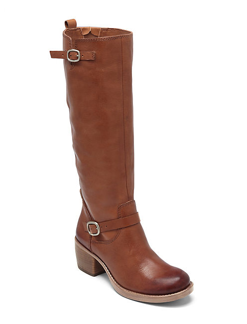 ROLLIE BOOTS, OPEN BROWN/RUST