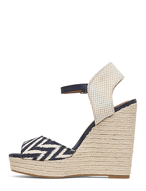ROSAYY WEDGE, OPEN BLUE/TURQUOISE