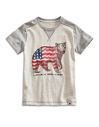 LUCKY FLAG BEAR TEE