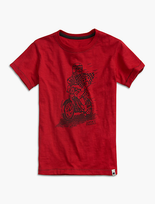 KING BIKER TEE, DARK RED