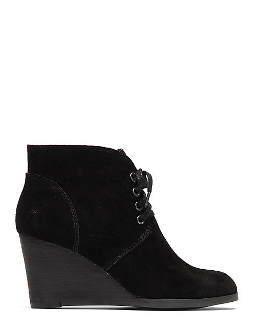 SWAYZE LACE UP WEDGE, BLACK