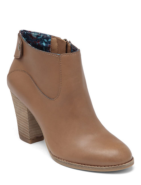 UBIZA BOOTIES, OPEN BROWN/RUST