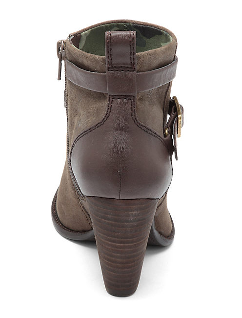 YUSTINA BOOTIES, LIGHT BROWN