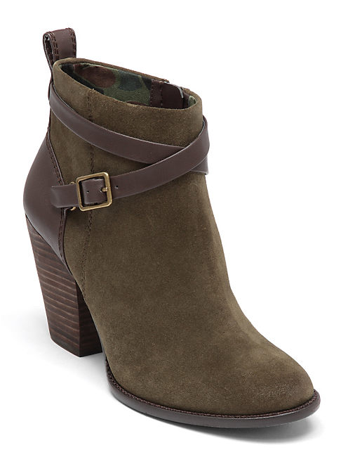 YUSTINA BOOTIES, LIGHT GREEN