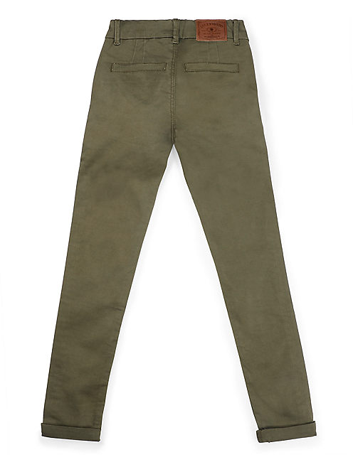 STUDDED CHINO, OPEN GREEN
