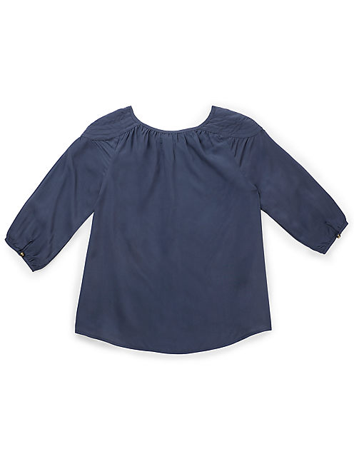 ALAMANOR PEASANT TOP, OPEN GREY