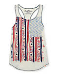 TWISTED BACK FLAG TANK, OPEN WHITE/NATURAL