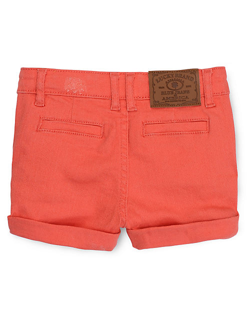 CANVAS SHORT, BRIGHT ORANGE